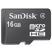 Micro SDHC Memory Card - 16GB - Class 4