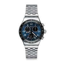 a63e785bc Swatch Irony Boxengasse Blue Dial Stainless Steel Men's Watch YVS423G
