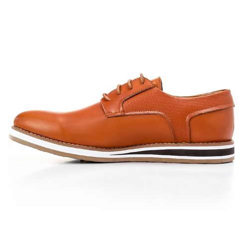 Casual To Formal Smart Men Shoes - Camel