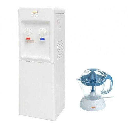 Water Dispenser Hot And Cold - White + Kl-323B Electric Juicer