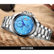 a20612422 High-grade BOSCK Casual Business Watch Men Stainless Steel Water Resistant  Quartz Clock Auto Day