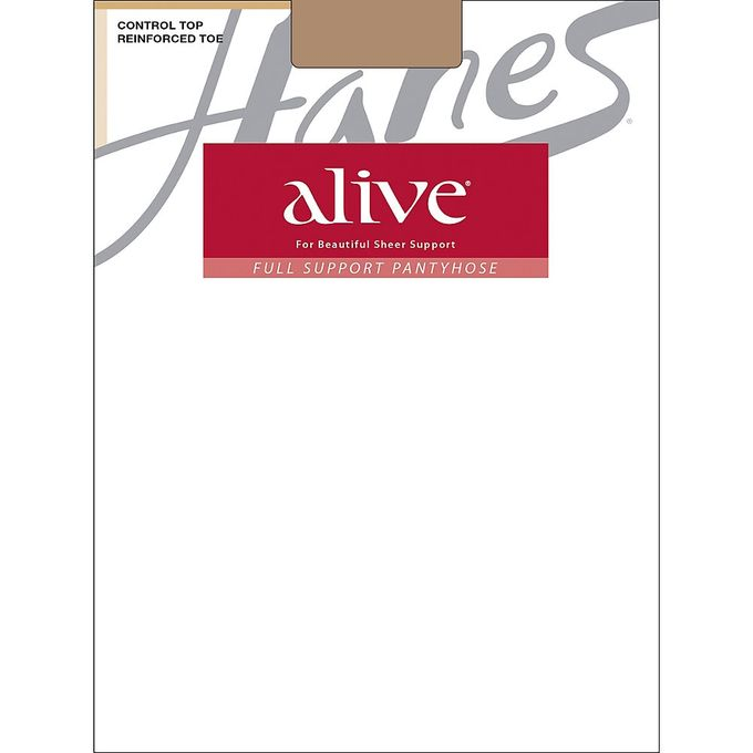 Hanes Silk Reflections Womens Alive Full Support Control Top Pantyhose