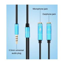 171d49c8021 3.5mm Headphone Mic Audio Y Splitter Cable Male To Dual Female Converter  Adapter - 2