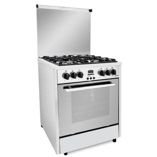 Professional Gas Cooker - 4 Burners - Silver