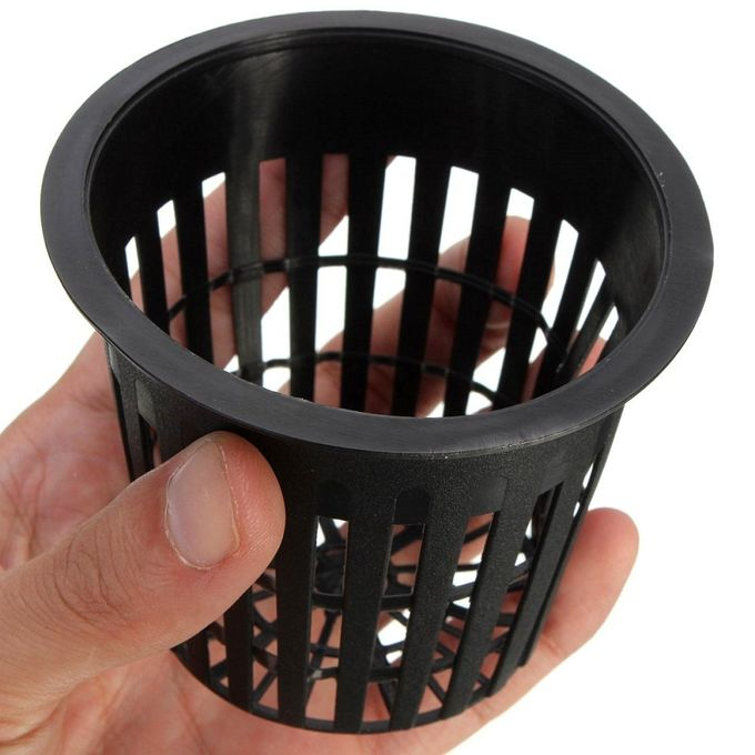 10pcs Mesh Pot Net Basket Hydroponic Aeroponic Clone Flower Plant Grow Pot Cup Home Black –  مصر
