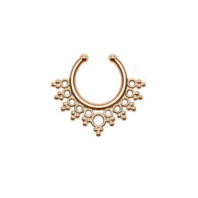 Fashion Clip On Fake Septum Ring Non Piercing Nose Ring Body