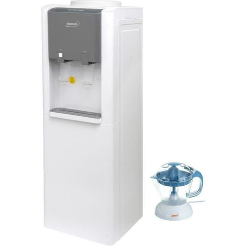 By502 Water Cooler With Refrigerator - White + Kl-323B Electric Juicer