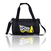 792750c04f70b Wonder Woman Printed Duffel Gym Bag - Black