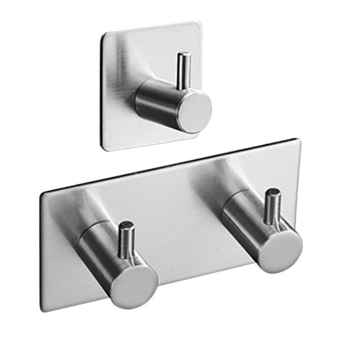 Sticker Adhesive 304 Stainless Steel Hook Clothes Coat Hanger Bathroom