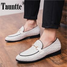 370bce923 Leather Casual Shoes For Men Soft Moccasins Man Flats Business Shoes Men  Loafers (White)