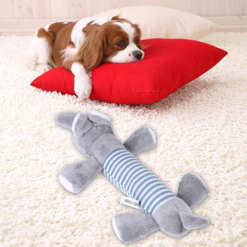 3 Different Animal Shape Types Pet Toy Puppy Chew Squeaky Plush Sound For Gift (Elephant)