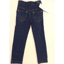a2f7fdba9cbaa Designer Boys Jeans Slim-Fit Elasticated Trousers Faded Mid-Blue Cotton  Denim Wash Children