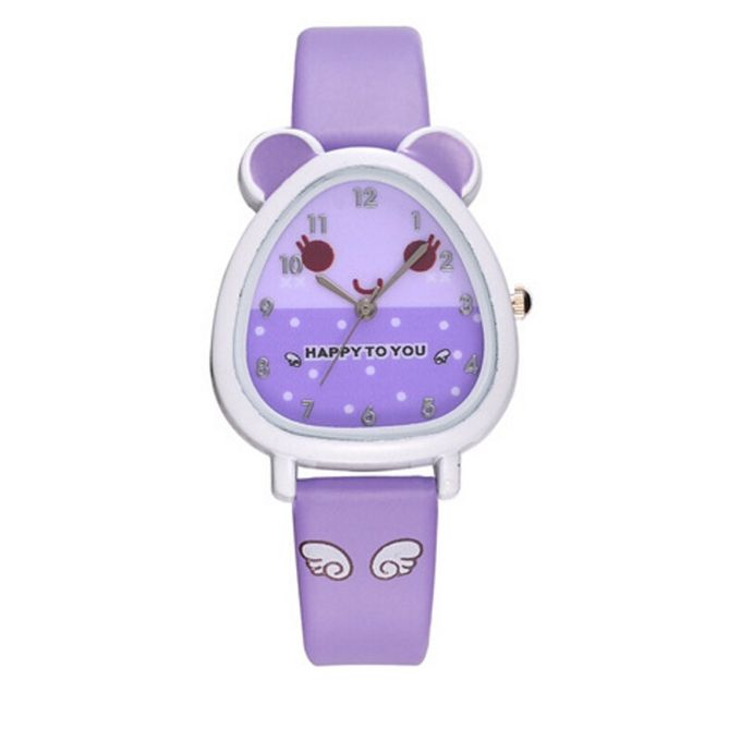 Huskspo Lovely Animal Design Boy Girl Children Quartz Watch Kids Birthday Gift