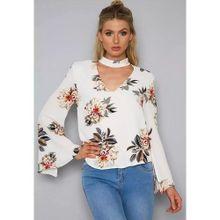a33297003bbecf YOINS New Women High Fashion Clothing Casual Long Sleeve Crew Neck White  Shirt Top