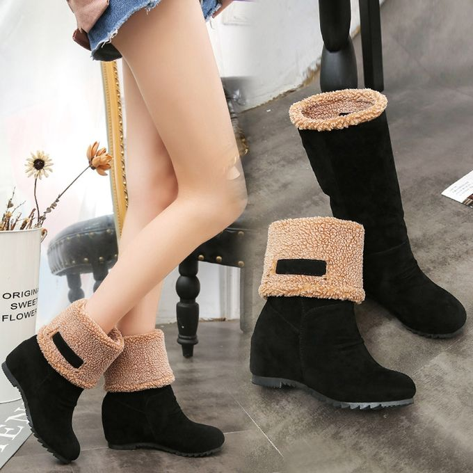 81e90501f304 Women s Snow Boots Winter Ankle Boots Women Shoes Boots Fashion Shoes  BK 35-Black