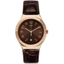 b8bfc33db6217 Swatch Harmonieuse YWG406 Rose-gold Leather Quartz Fashion Watch for men