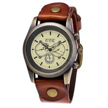 7f9b78d0a Hiamok CCQ Brand Leather Vintage Watch Men Women Wristwatch Quartz