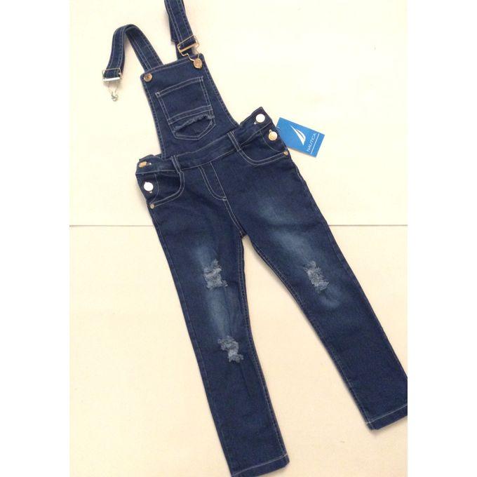8abd98f4d2622 (سالوبيت بناتي كاجوال رائع التصميم جينز قطني مريح لون ازرق ستريتش ليكرا سن  من ٣ الى ٦ سنوات (سلوبت سلوبيت - Jumia مصر