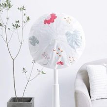 fe658ba1c4dc3 Cartoon Floral Pattern Electric Fan Dust-proof Round Elastic Dust Cover  Protection