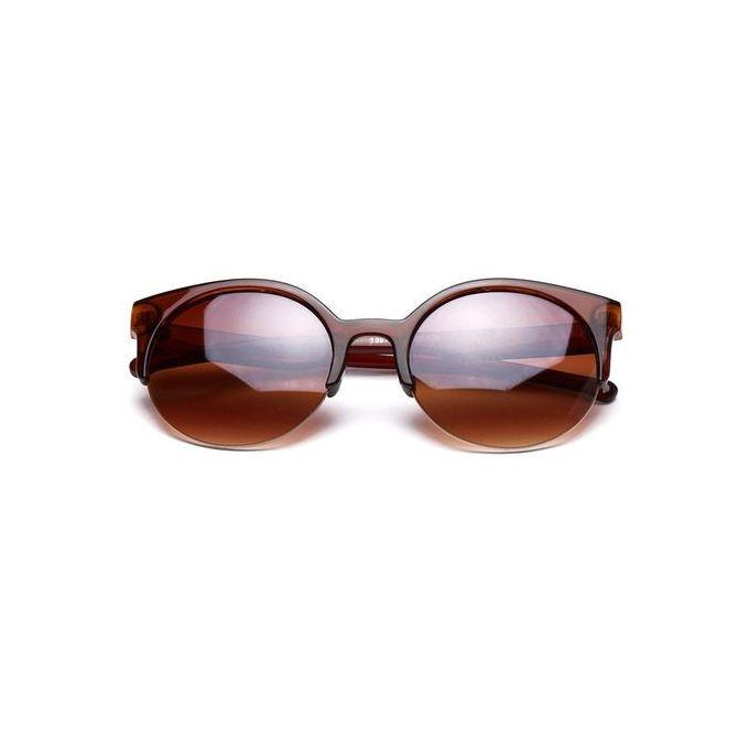 f4099f1a83 Xiuxingzi Stylish Cat Eye Sunglasses Women Eyewear Semi-Rimless Sunglasses  Brown.