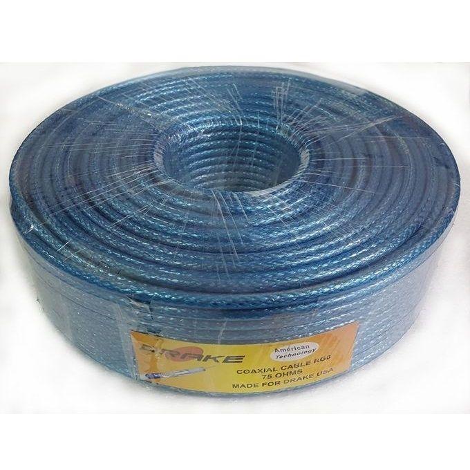 سلك دش من دريك 30 متر — ازرق –  مصر