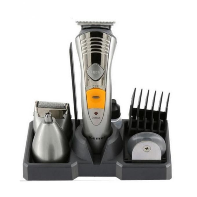 as seen on tv km 580a rechargeable 7 in 1 hair trimmer silver buy online jumia egypt. Black Bedroom Furniture Sets. Home Design Ideas