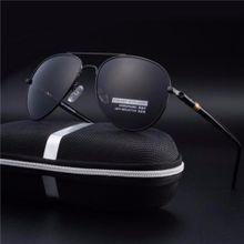 92676e797 Men Aluminum Polarized Sunglasses Driving Sun Glasses  Sunglasses(Black&Gray)Men