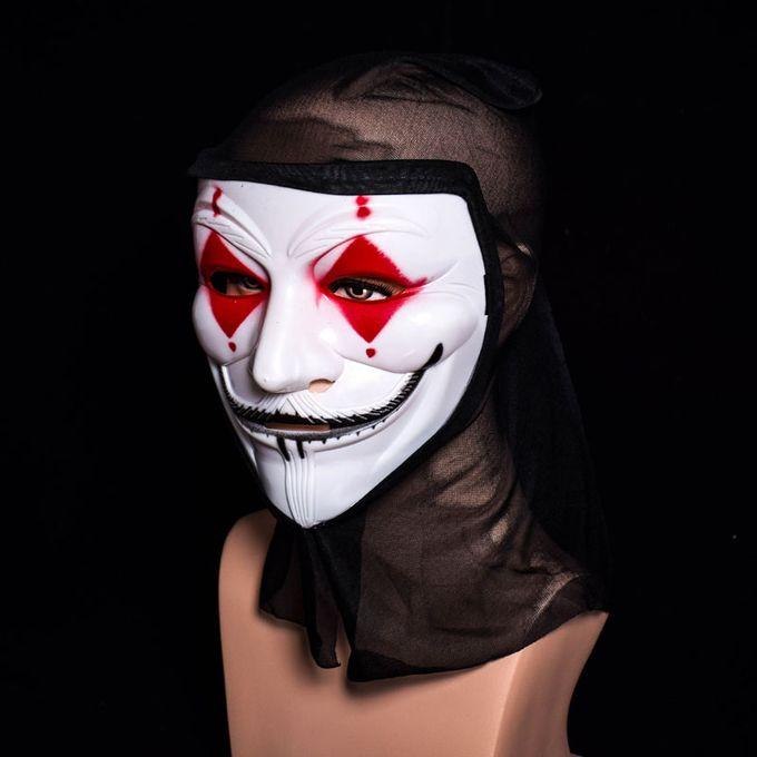 Halloween Skull Vampire V Clown Mask Bar Dance Horror Scary Soul Hip-hop  Adult