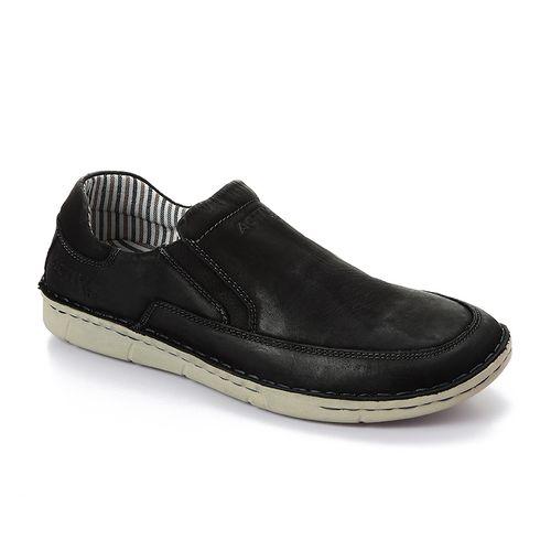 Slip On Men Casual Shoes - Black