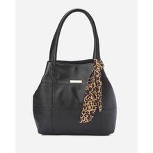 27a6be61449c Stitched Leather Women Handbag - Black
