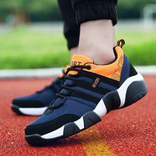 4739b4e70 Summer Men's Breathable Mesh Running Shoes Sports Shoes -Black Orange