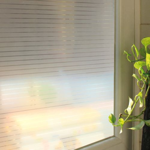 45*200cm Stripe Glass Frosted Window Film Self Adhesive Sticker Room Privacy