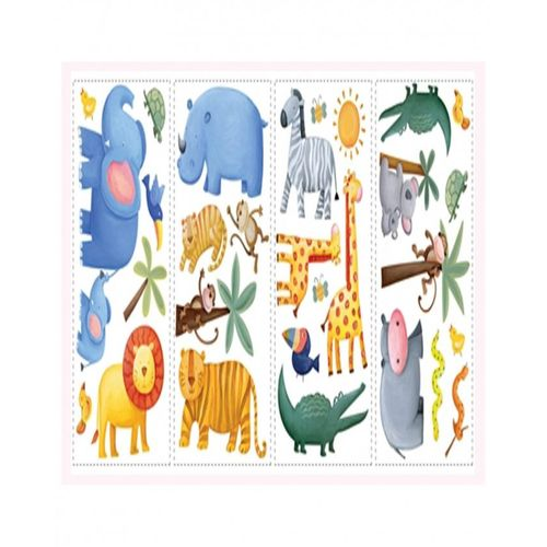 Roommates jungle adventure appliques wall decals buy for Home decorations on jumia