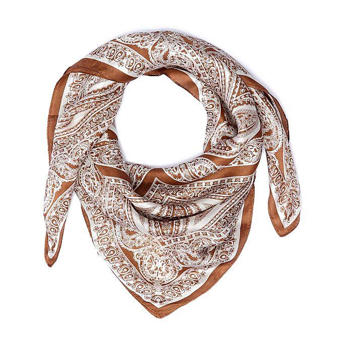 tie shop square veil light brown
