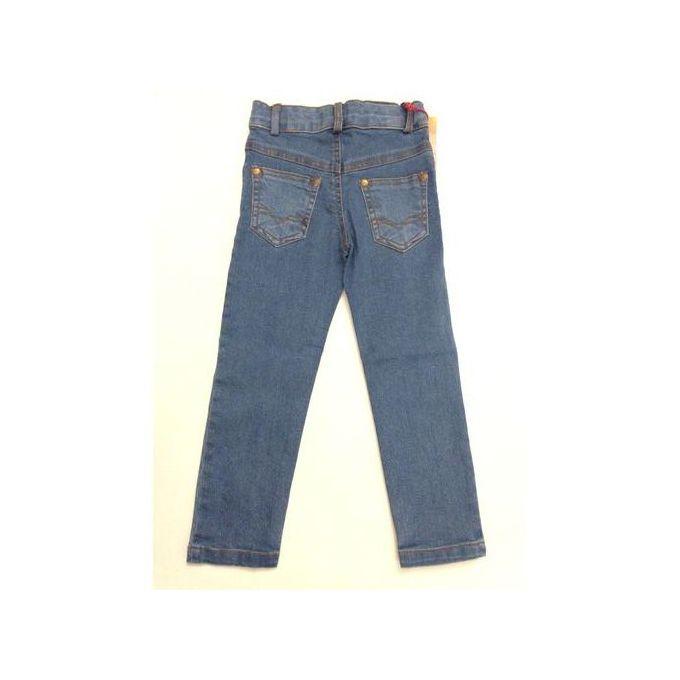 e434e3cbc3f2 Designer Boys Jeans Slim-Fit Elasticated Trousers Faded Light-Blue Cotton  Denim Wash Children