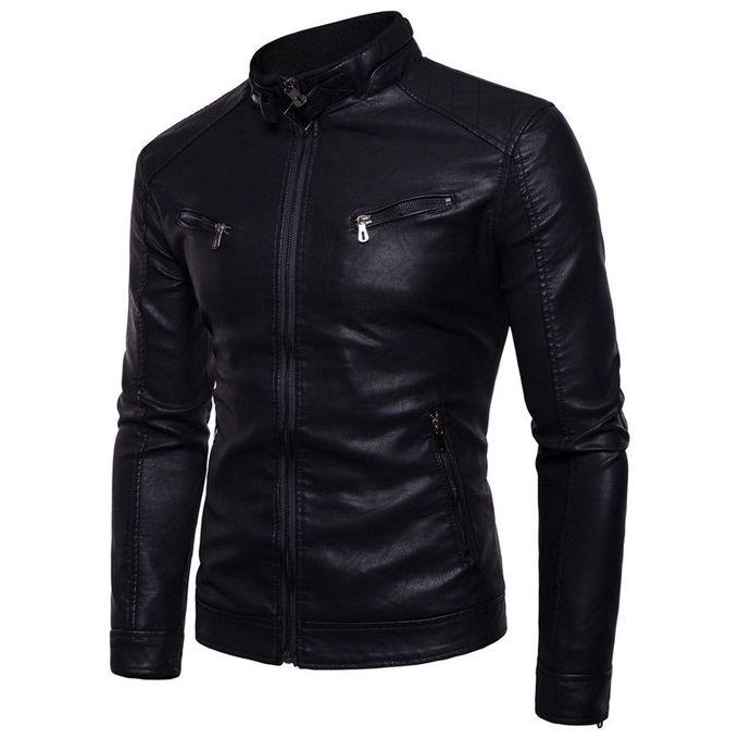 9728cf44234f Order Winter Men Locomotive Leather Jacket Fleece Thickeren at Best ...
