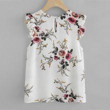 59e7cbec8d2d3 Hiamok Women Floral Print Butterfly Sleeve Blouse Crop Tops Vest Tank  Chiffon T Shirt L