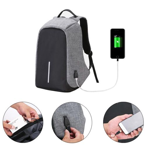 ab2a40f8936 Louis Will Business Anti-theft Water Resistant Polyester Laptop Backpack  With USB Charging Port