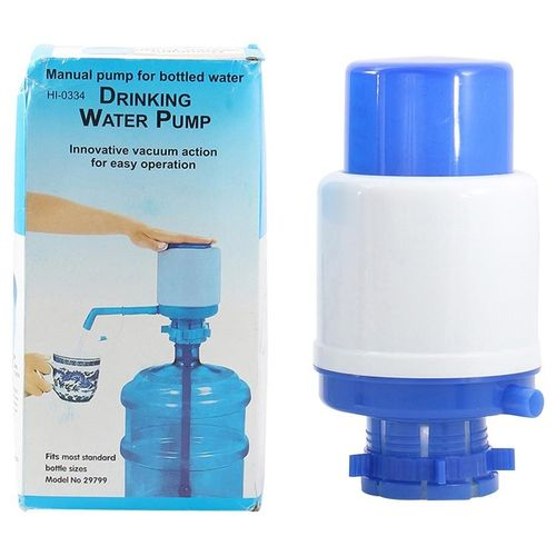Drinking Manual Water Pump - White/Blue