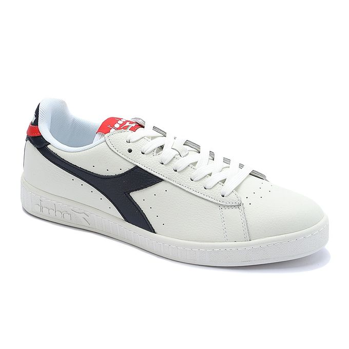 32f12eb068431 GAME L LOW WAXED Sport Shoes - White&Navy