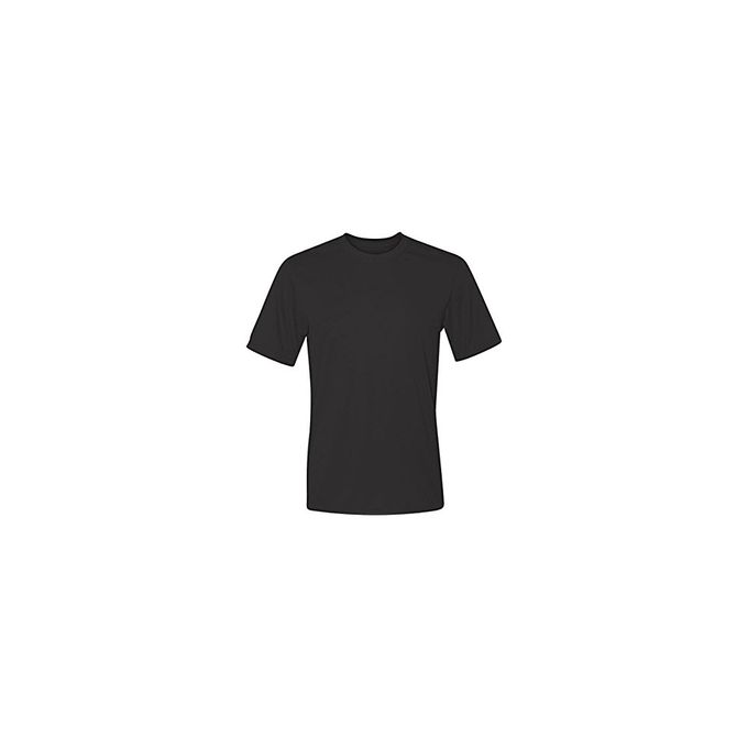 Hanes Sport Mens Heathered Performance T-Shirt [Black, X-Large]