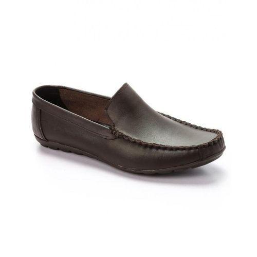 Elegant Slip On Men Shoes - Brown