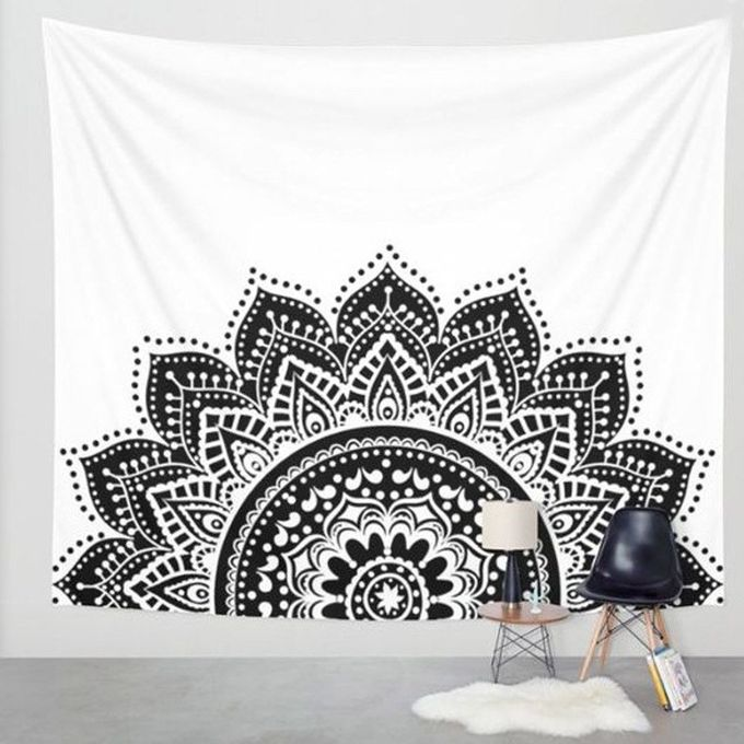 Wall Hanging Tapestry Table Cloth Bedspread Beach Towel Mat Blanket Table Decor-White –  مصر
