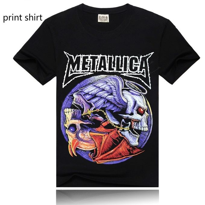 04d0cb34e Short Sleeves Mens Shirts Printing Metallica T Shirts