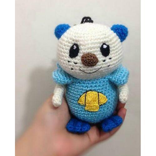 Marill Pokemon Amigurumi Free Crochet Pattern | DailyCrochetIdeas | 500x500