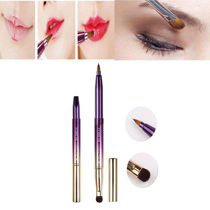 029d97d7a8b4e Double-headed Portable Retractable Lip Brush Eyeshadow Brush Makeup Tool