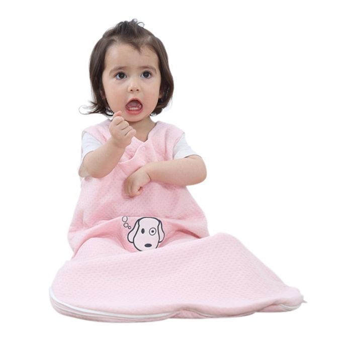 Baby Sleeping Bag Wearable Blanket 100% Cotton Sleepsack In Summer, Baby Pink, M. –  مصر