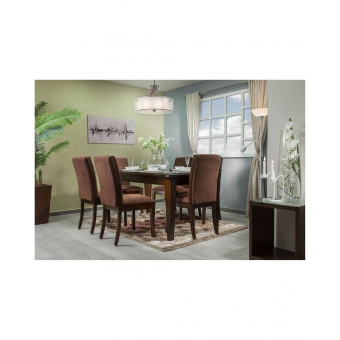 Sale on Natural Wood Standard Dining Table + 6 Chairs ...