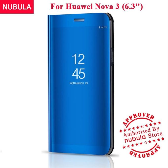 uk availability 49efc c3822 For Huawei Nova 3 Flip Case,360 Degree Luxury Mirror Clamshell Hard Shell  Case Smart Clear View Flip Cover For Huawei Nova 3 129097 Color-5