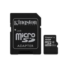 16GB MicroSDHC Class 10 Memory Card With SD Adapter